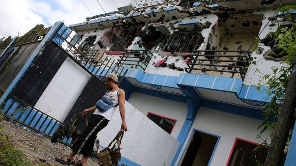 منزل تعرض لقصف في ماراوي بالفلبين يوم 27 أكتوبر تشرين الأول 2017. تصوير: روميو رانوكو - رويترز