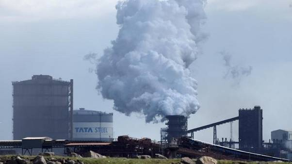 FILE PHOTO: Tata steelworks Port Talbot, Wales, April 26, 2016. REUTERS/Rebecca Naden/File Photo
