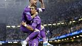 Britain Soccer Football - Juventus v Real Madrid - UEFA Champions League Final - The National Stadium of Wales, Cardiff - June 3, 2017 Real Madrid's Cristiano Ronaldo celebrates scoring their first goal with Sergio Ramos Reuters / Eddie Keogh Livepic