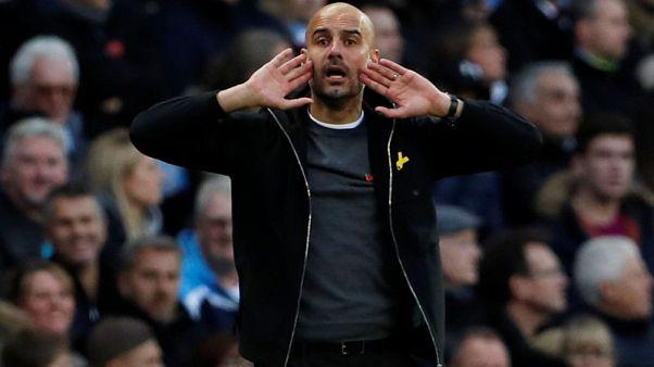 Soccer Football - Premier League - Manchester City vs Arsenal - Etihad Stadium, Manchester, Britain - November 5, 2017   Manchester City manager Pep Guardiola   Action Images via Reuters/Lee Smith