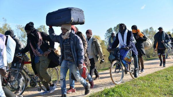 Protesta migrant: 150 già ricollocati