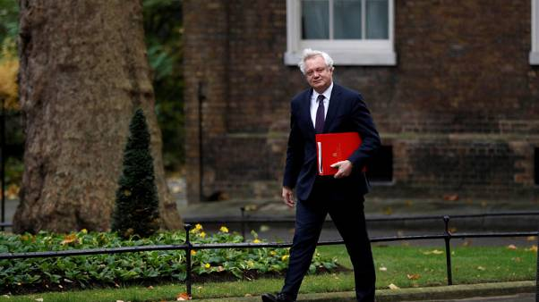 David Davis, Britain's Secretary of State for Exiting the European Union, arrives in Downing Street, London, November 14, 2017. REUTERS/Peter Nicholls