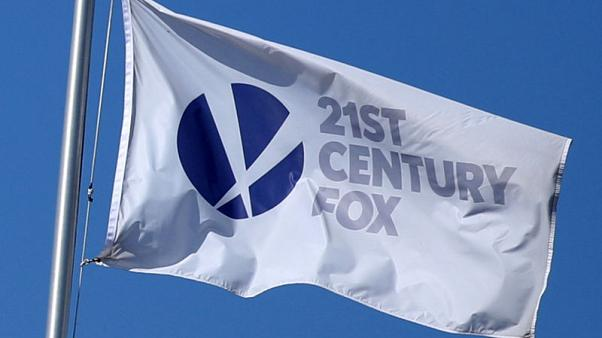 FILE PHOTO: The Twenty-First Century Fox Studios flag flies over the company building in Los Angeles, California U.S. on November 6, 2017.   REUTERS/Lucy Nicholson /File Photo