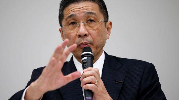 Nissan Motor Co. Chief Executive Hiroto Saikawa attends a news conference at the company headquarters in Yokohama, south of Tokyo, Japan November 17, 2017. REUTERS/Toru Hanai