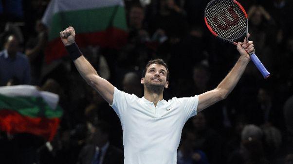 Atp Finals: Dimitrov fa en plein