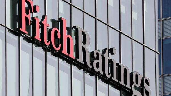 FILE PHOTO: The Fitch Ratings logo is seen at their offices at Canary Wharf financial district in London,Britain, March 3, 2016.  REUTERS/Reinhard Krause/File Photo