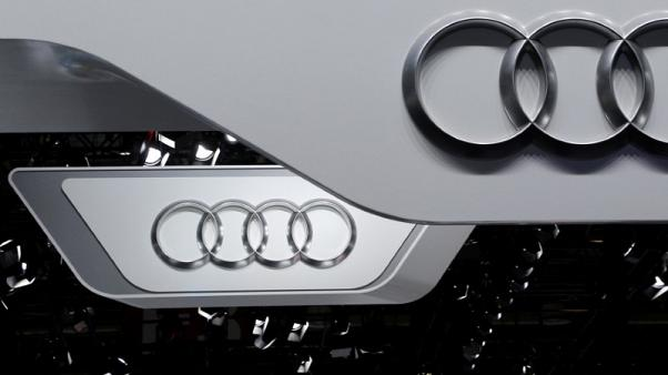 FILE PHOTO:  The logo of Audi is pictured at the Auto China 2016 auto show in Beijing, April 25, 2016. REUTERS/Kim Kyung-Hoon/File Photo