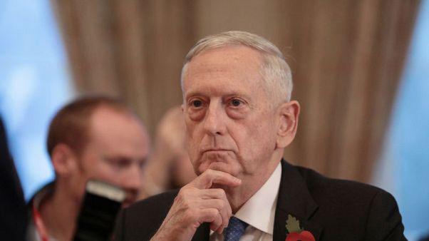 U.S. Secretary for Defense, Jim Mattis in central London, Britain November 10, 2017. REUTERS/Simon Dawson