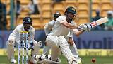 FILE PHOTO: Cricket - India v Australia - Second Test cricket match - M Chinnaswamy Stadium, Bengaluru, India - 05/03/17. Australia's Shaun Marsh plays a shot. REUTERS/Danish Siddiqui