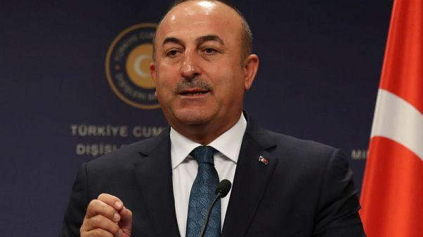 Turkish Foreign Minister Mevlut Cavusoglu attends a news conference in Ankara, Turkey, October 24, 2017. REUTERS/Umit Bektas