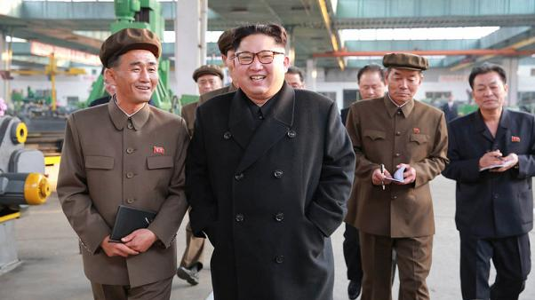 North Korean leader Kim Jong Un visits a factory in this undated picture provided by KCNA in Pyongyang on November 4, 2017. KCNA via Reuters