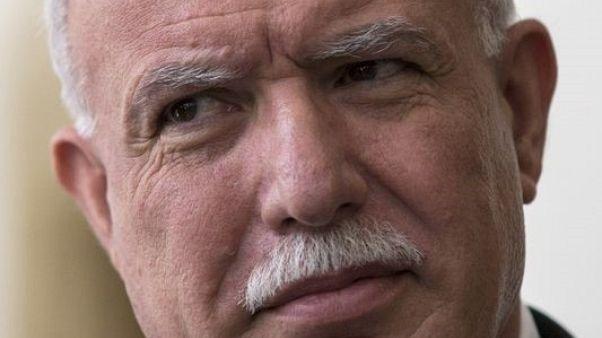 وزير الخارجية الفلسطيني رياض المالكي. صورة من أرشيف رويترز.