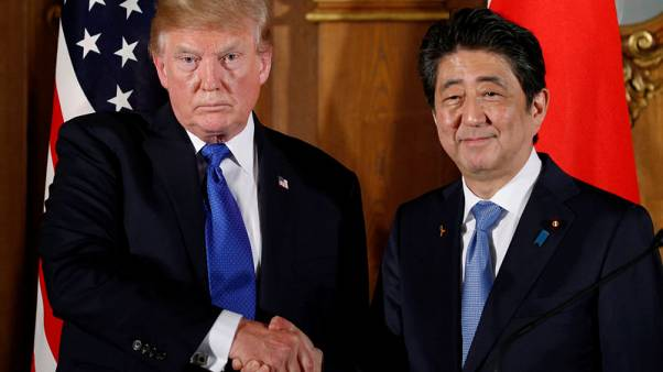 Trump discussed free trade pact with Japan's Abe, U.S. envoy says