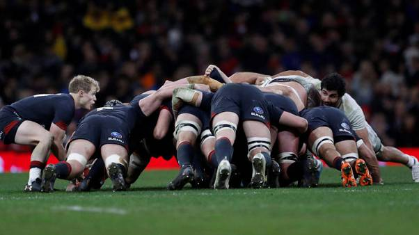 Rugby Union - Autumn Internationals - Wales vs Georgia - Principality Stadium, Cardiff, Britain - November 18, 2017   General view of a scrum    Action Images via Reuters/Andrew Boyers