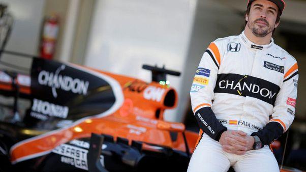Formula One F1 - Brazilian Grand Prix 2017 - Sao Paulo, Brazil - November 12, 2017  McLaren's Fernando Alonso poses ahead of the Brazilian Grand Prix  REUTERS/Ueslei Marcelino