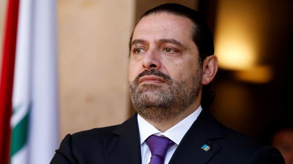Lebanon's Prime Minister Saad al-Hariri is seen at the governmental palace in Beirut, Lebanon October 24, 2017. Picture taken October 24, 2017. REUTERS/Mohamed Azakir - RC1F0AAA54F0