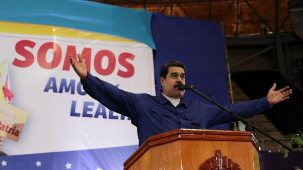 Venezuela's President Nicolas Maduro speaks during an event with supporters in La Guaira, Venezuela November 16, 2017. Miraflores Palace/Handout via REUTERS