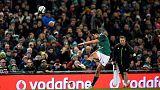 Rugby Union - Autumn Internationals - Ireland v Fiji - Aviva Stadium, Dublin, Republic of Ireland - November 18, 2017   Ireland's Joey Carbery kicks a conversion   REUTERS/Clodagh Kilcoyne