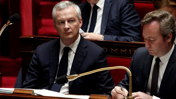 FILE PHOTO - French Finance Minister Bruno Le Maire attends the questions to the government session at the National Assembly in Paris, France, November 15, 2017. REUTERS/Benoit Tessier
