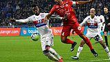 Les Lyonnais Maxwell Cornet et Mariano Diaz ont été muselés par le capitaine montpelliérain Vitorino Hilton au Parc-OL, le 19 novembre 2017