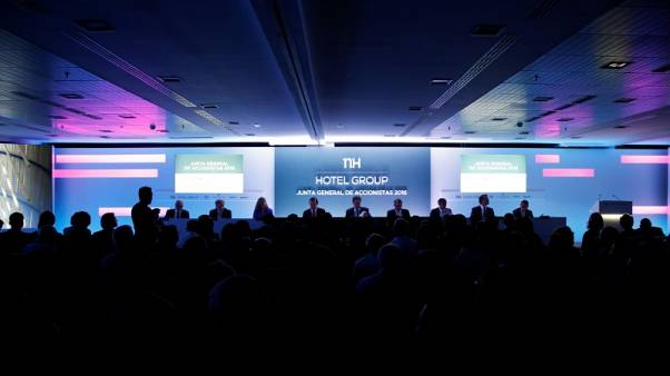 Spain's NH Hotel Group holds their AGM in Madrid, Spain, June 21, 2016.  REUTERS/Paul Hanna