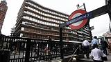 An office building containing the London headquarters of the PR company Bell Pottinger is seen behind an entrance to an underground train station in London, September 5, 2017. REUTERS/Toby Melville