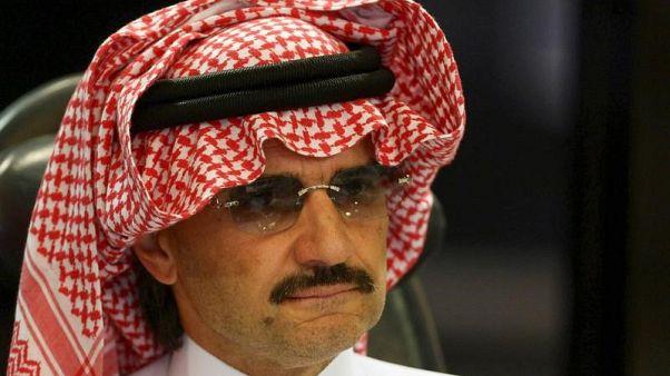 الأمير السعودي الوليد بن طلال في صورة من أرشيف رويترز.