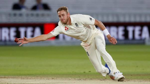 Cricket - England vs West Indies - Third Test - London, Britain - September 8, 2017   England's Stuart Broad in action   Action Images via Reuters/Andrew Boyers