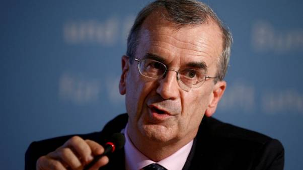 FILE PHOTO --  Governor of the Bank of France Francois Villeroy de Galhau attends a press conference after the Franco-German Financial Council meeting in Berlin, Germany, September 23, 2016.    REUTERS/Axel Schmidt/File Photo