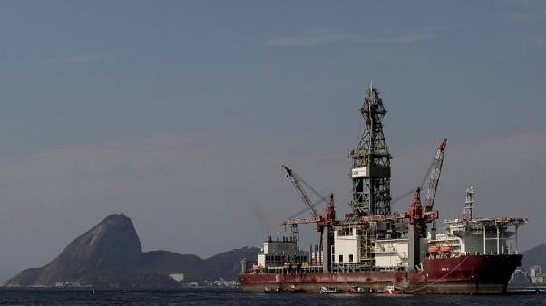 FILE PHOTO - The Odebrecht Oil and Gas drillship is seen in the Guanabara bay in Rio de Janeiro, Brazil October 20, 2017. REUTERS/Bruno Kelly
