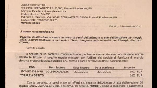 Ingiunzione a una donna della provincia di Pordenone