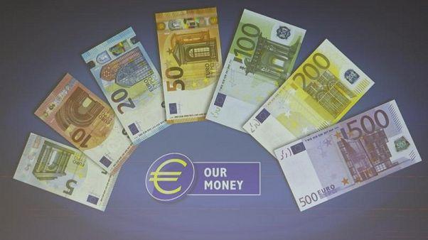 أوراق يورو من فئات مختلفة في صورة من أرشيف رويترز.