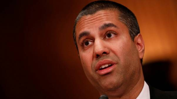 Ajit Pai, Chairman of the Federal Communications Commission, testifies before a Senate Appropriations Financial Services and General Government Subcommittee on Capitol Hill in Washington, U.S., June 20, 2017. REUTERS/Aaron P. Bernstein