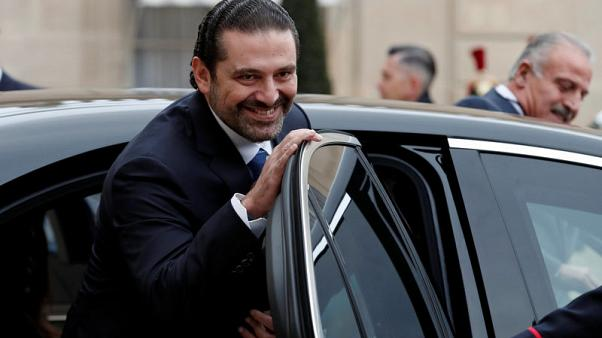 Saad al-Hariri, who announced his resignation as Lebanon's Prime Minister while on a visit to Saudi Arabia, looks on after a meeting with the French President at the Elysee Palace in Paris, France, November 18, 2017. REUTERS/Benoit Tessier