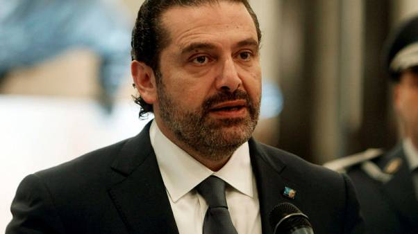 Saad al-Hariri who suspended his decision to resign as prime minister talks at the presidential palace in Baabda, Lebanon November 22, 2017. REUTERS/Aziz Taher