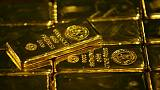 الذهب يهبط أكثر من 1% مع تعزز الدولار أثناء شهادة باول