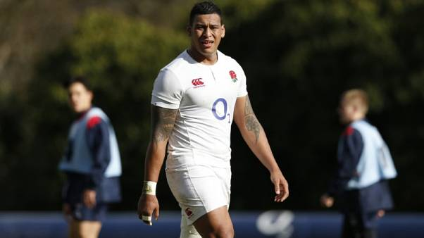 FILE PHOTO:  Britain Rugby Union - England Training & Press Conference - Pennyhill Park, Bagshot, Surrey - 24/2/17 England's Nathan Hughes during training Action Images via Reuters / Andrew Boyers Livepic