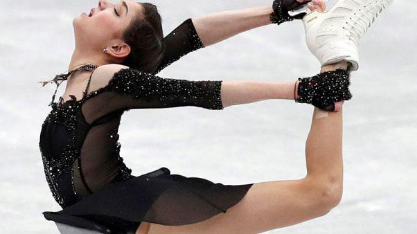 Figure Skating - ISU Grand Prix of Figure Skating NHK Trophy - Ladies Free Skating - Osaka, Japan - November 11, 2017 - Evgenia Medvedeva of Russia in action. REUTERS/Kim Kyung-Hoon