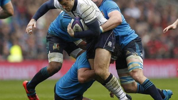 Britain Rugby Union - Scotland v Italy - Six Nations Championship - BT Murrayfield Stadium, Edinburgh, Scotland - 18/3/17 Scotland's Alex Dunbar in action Action Images via Reuters / Lee Smith Livepic