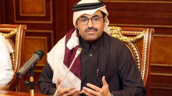 وزير الطاقة القطري محمد السادة في الدوحة يوم 8 فبراير شباط 2017. تصوير: نسيم زيتون - رويترز
