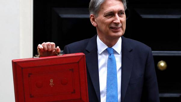 Britain's Finance Secretary Philip Hammond leaves Downing Street on his way to deliver his budget statement to parliament, London, Britain, November 22, 2017. REUTERS/Peter Nicholls