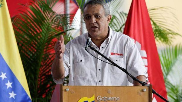 وزير النفط الفنزويلي إيولوخيو ديل بينو في كراكاس يوم 31 يناير كانون الثاني 2017. تصوير: ماركو بيو - رويترز.