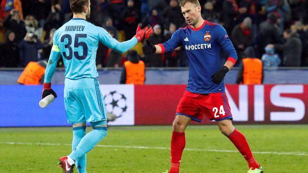 Akinfeev celebrates clean sheet at long last in CSKA win
