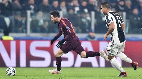 Bianconeri 0-0 col Barcellona, giallorossi 0-2 con A. Madrid