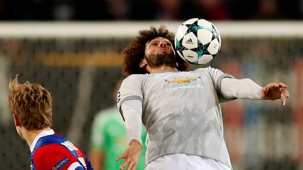Soccer Football - Champions League - Basel vs Manchester United - St. Jakob-Park, Basel, Switzerland - November 22, 2017   Manchester United's Marouane Fellaini in action    Action Images via Reuters/Andrew Boyers
