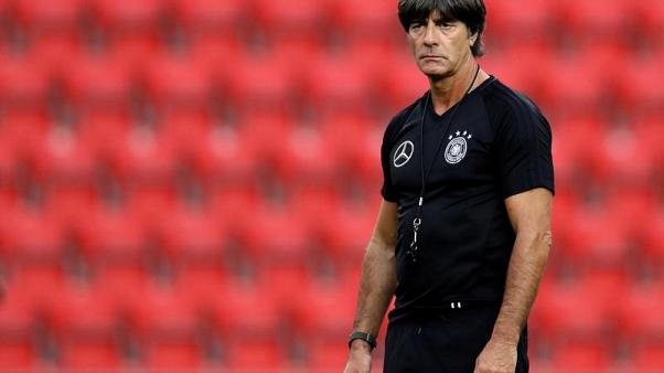 Soccer Football - 2018 World Cup Qualifications - Europe - Germany Training - Prague, Czech Republic - August 31, 2017.  Germany's national team coach Joachim Loew during training.  REUTERS/David W Cerny - RC182495DC40