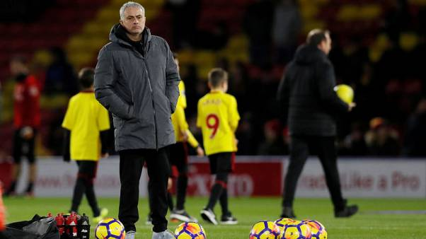 Soccer Football - Premier League - Watford vs Manchester United - Vicarage Road, Watford, Britain - November 28, 2017   Manchester United manager Jose Mourinho before the match   REUTERS/David Klein