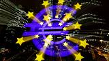 The euro sign in front of the former headquarters of the European Central Bank (ECB) is photographed with long exposure in Frankfurt, Germany, November 20, 2017. REUTERS/Kai Pfaffenbach