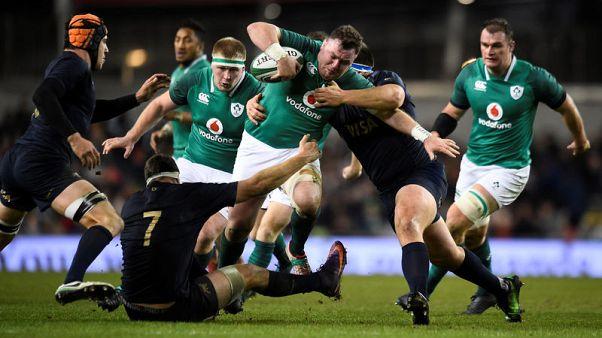 Rugby Union - Autumn Internationals - Ireland vs Argentina - Aviva Stadium, Dublin, Republic of Ireland - November 25, 2017   Ireland's Dave Kilcoyne in action   REUTERS/Clodagh Kilcoyne