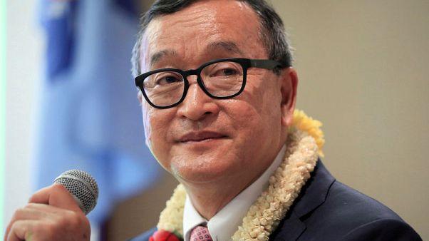 Cambodia's Hun Sen will fall like Mugabe, says opponent Rainsy